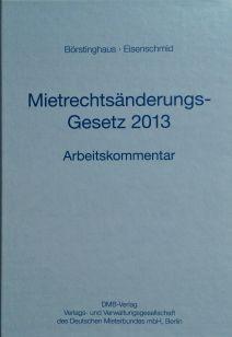 Mietrechtsänderungsgesetz 2013