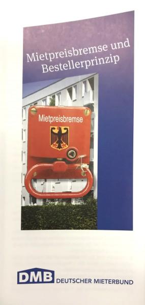 """Flyer """"Mietpreisbremse und Bestellerprinzip"""""""